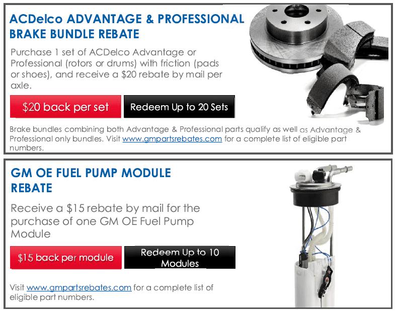 Pump your brakes rebate