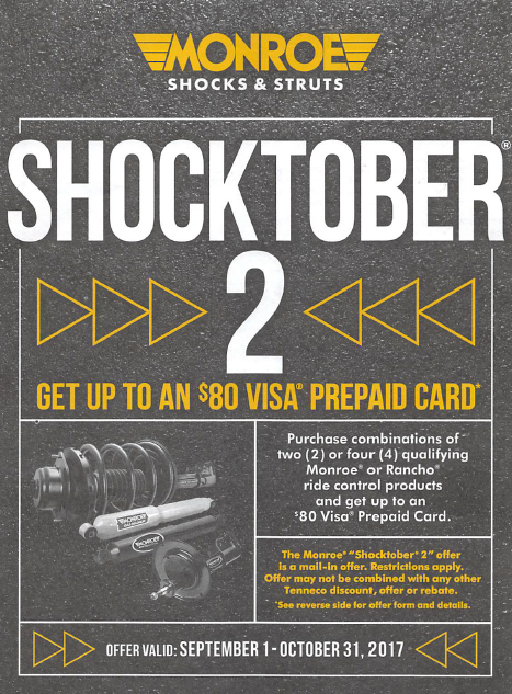 Shocktober Sept 1 to Oct 31